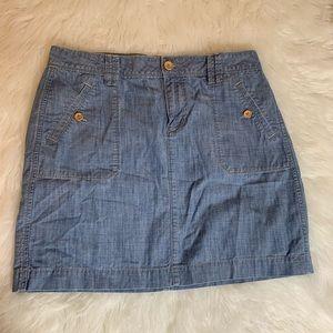 Loft women's blue mini skirt 100% Cotton size 6